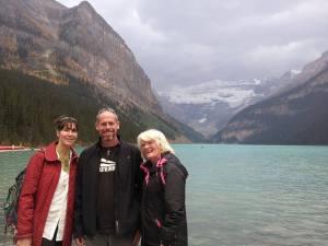 Kerri, Lance and me at Lake Louise