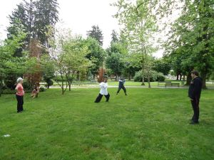 Suzana Vhroci.Qi Gong Master in the Park
