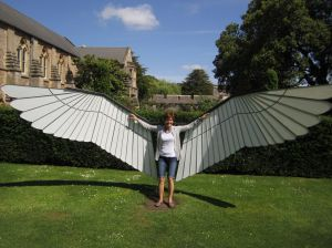 Elena the Angel.Wells Bishops Castle.June 18