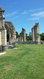 Glastonbury Abbey in the Sun.June 16