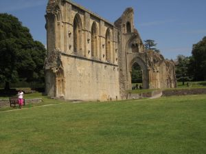 Glastonbury Abbey power place.June 16