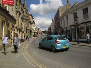 Glastonbury street scene