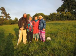 New Moon Ceremony led by Gay Anne Liberty at the Foothill of the Tor.June 18 evening