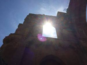 Stuart has taken this photograph at Glastonbury Abbey.June 16