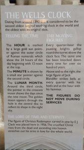 Wells Cathedral.Ancient Clock description.June 18
