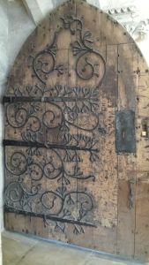 Wells Cathedral.Ancient Door.June 18