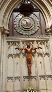 Wells Cathedral.the special ancient clock.June18
