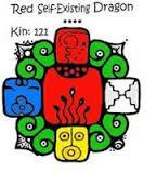 Red Self Existing Dragon.Mystic Blue Column