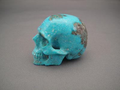 Turquoise Crystal Skull