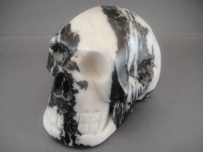 Zebra Crystal Skull