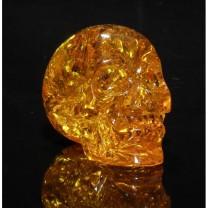 Amber Crystal Skull
