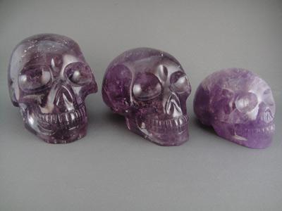 Amethyst Crystal Skulls