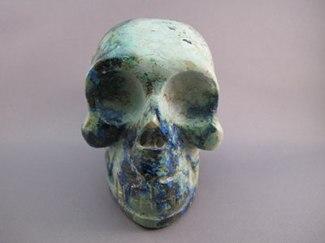 Azurite Crystal Skull