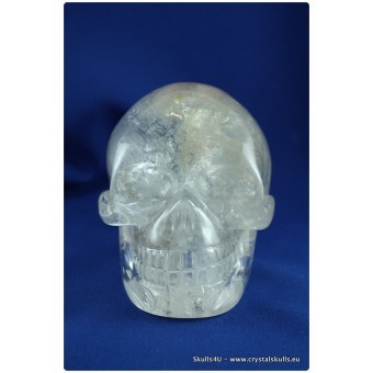 Clear quartz skull with phantom points.Bhanumati
