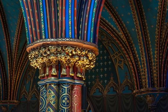 Columns of Basilica.Notre Dame