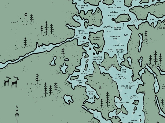 Go Home Lake Map by Jackie Saik