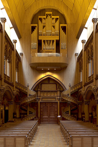 The organ.Chapel.Notre Dame